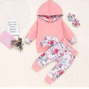 3Pcs Infant Toddler Baby Girl clothes headband set